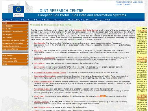 Lle european soil portal soil data and information systems for Soil information in english